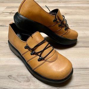 Mustard yellow dansko shoes